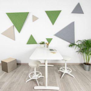 Mosaico triangular acústico de pared