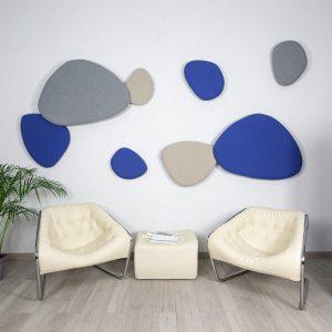 Mosaico orgánico acústico de pared